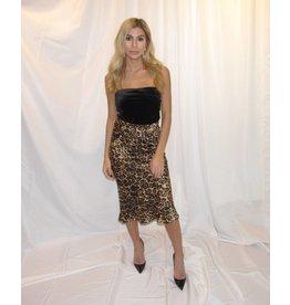 LEXI DREW Midi Leopard Skirt