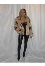 LEXI DREW Tan Star Fur Jacket