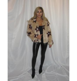 LEXI DREW Tan Star Fur Jacket
