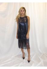 LEXI DREW Sequin Fringe Skirt
