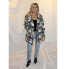 LEXI DREW Plaid Teddy Jacket