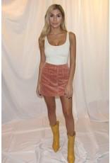 LEXI DREW Cord Snap Skirt