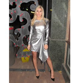 LEXI DREW Metallic Twist Dress