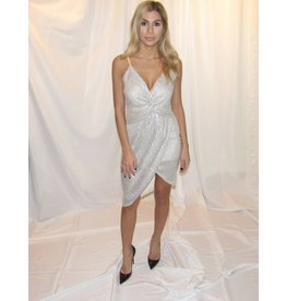LEXI DREW Metallic Knot Dress