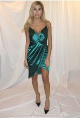 LEXI DREW Satin Twist Dress