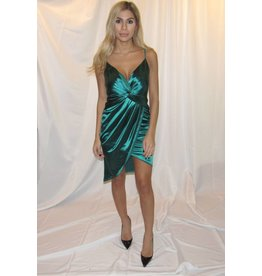 LEXI DREW Satin Twist Dress