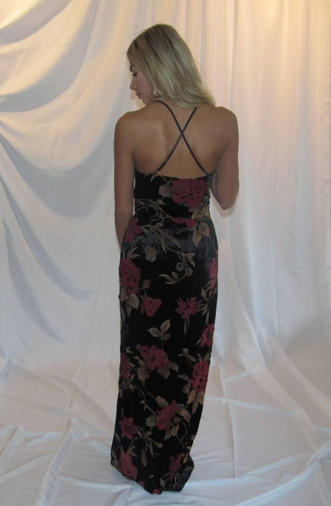 LEXI DREW Velvet Floral Maxi