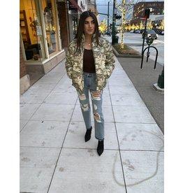 LEXI DREW Camo Puffer Jacket