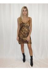 Leopard Cowl Dress