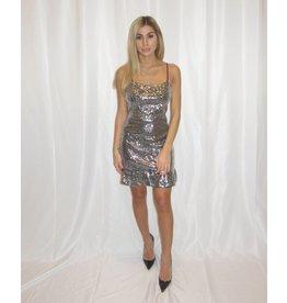 LEXI DREW Sequin Ruffle Dress