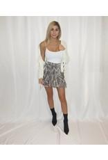 LEXI DREW Snake Ruffle Skirt
