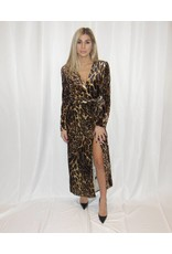 WAYF Leopard Wrap Dress