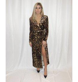 WAYF Gwyneth Velvet Wrap Dress
