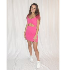 LEXI DREW Rib Cut Dress