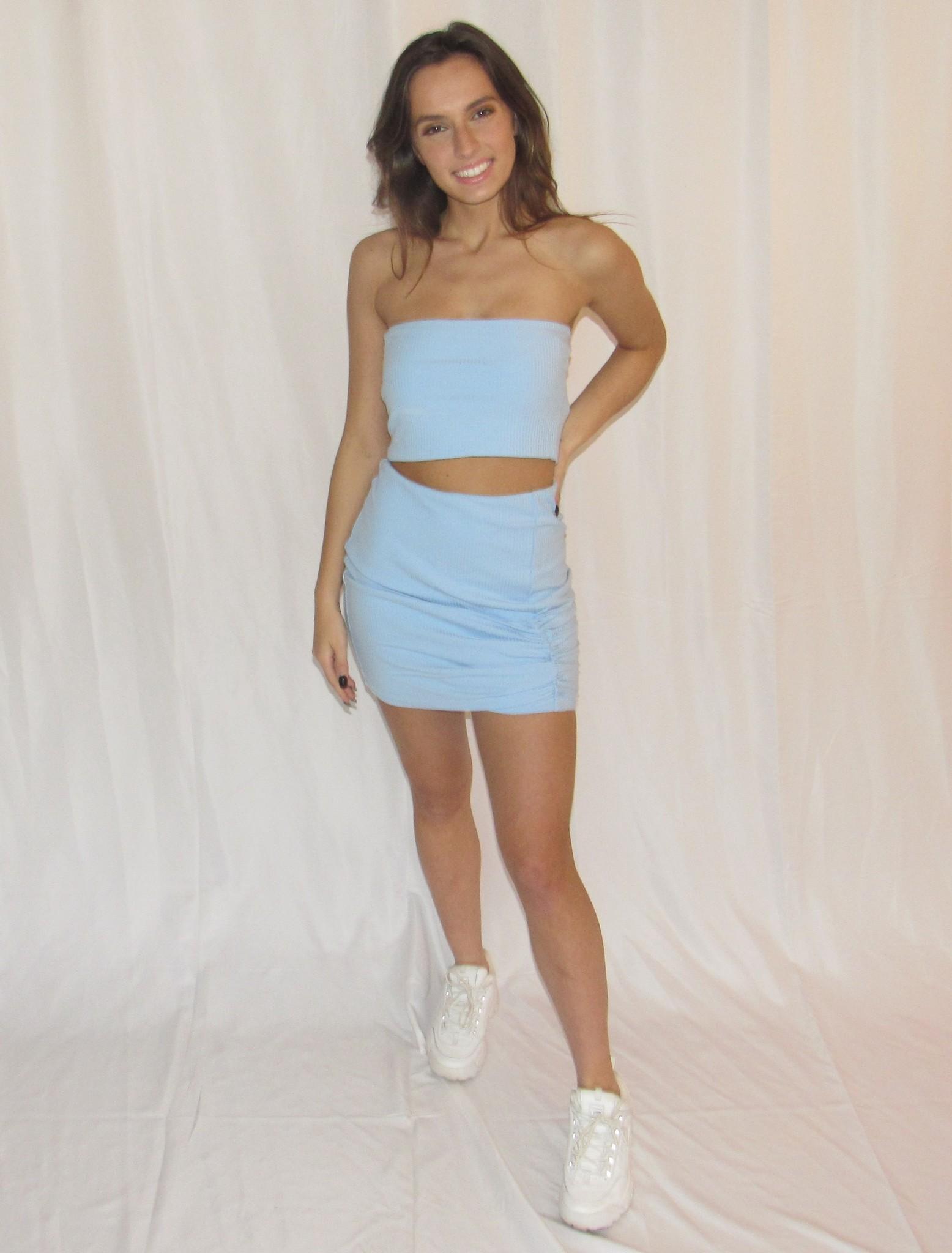 LEXI DREW Ribbed Skirt Set