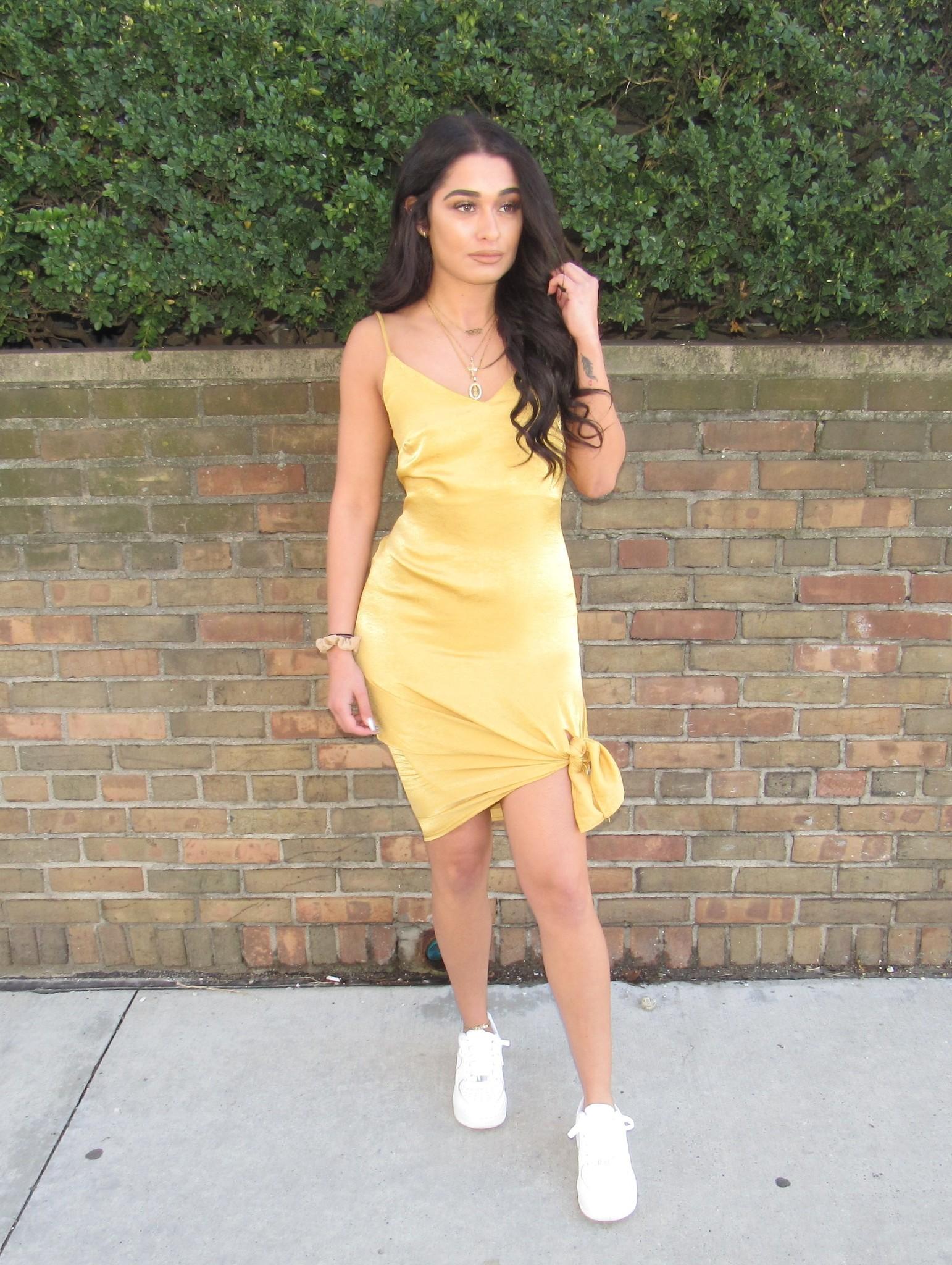 LEXI DREW Slip Slit Dress
