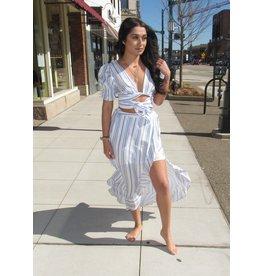 LEXI DREW Stripe Long Skirt