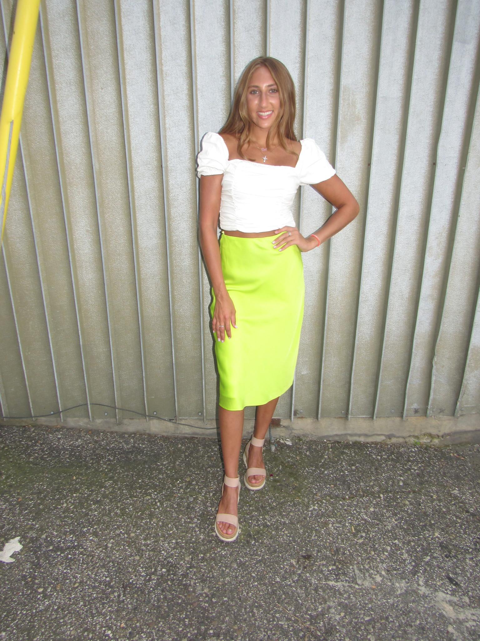 LEXI DREW Neon Slip Skirt