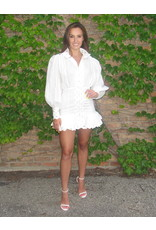 LEXI DREW Shirt Ruffle Dress