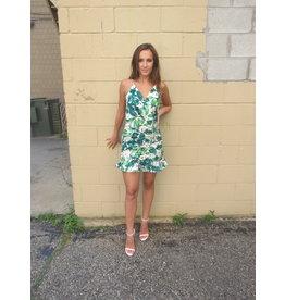 LEXI DREW Floral Scrunch Dress