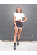 LEXI DREW Stone Fringe Skirt