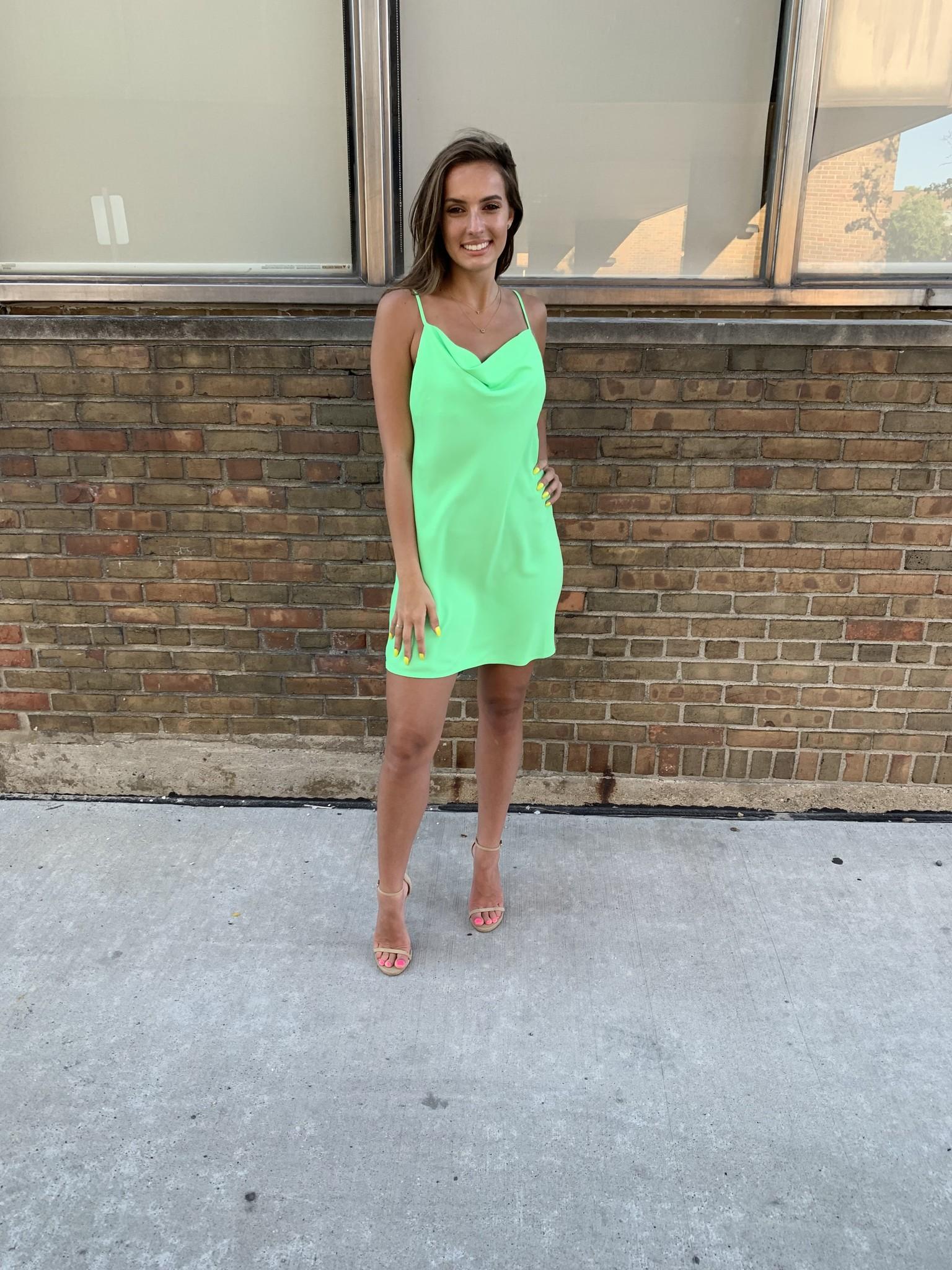 LEXI DREW Mini Cowl Dress