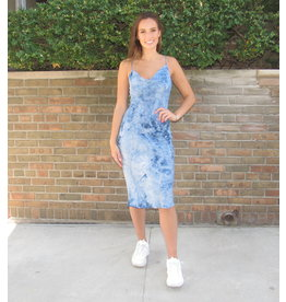 LEXI DREW Tie Dye Slip Dress