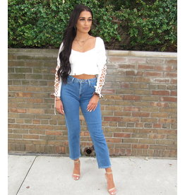 LEXI DREW Crop Laced Up Top