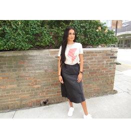 LEXI DREW Satin Midi Skirt