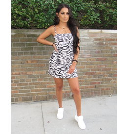 LEXI DREW Zebra Mini Dress