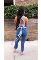 LEXI DREW Knit Tie Top