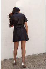 LEXI DREW 5913 Leather Tie Dress