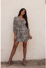 LEXI DREW 9545 Leopard LS Dress