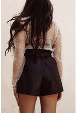 LEXI DREW 5928 Leather Shorts