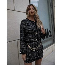 LEXI DREW S116 Chain Tweed Skirt