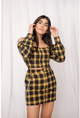 LEXI DREW 598S Plaid Chain Skirt