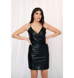 LEXI DREW 7937 Leather Dress
