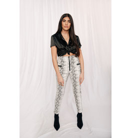 LEXI DREW 6013 Leather Snake Pants