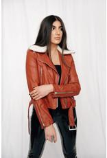 LEXI DREW 4117 Leather Fur Jacket
