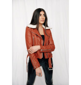LEXI DREW 4117 Leather Fur Jacket