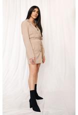 LEXI DREW 9592 Plaid Blazer Dress