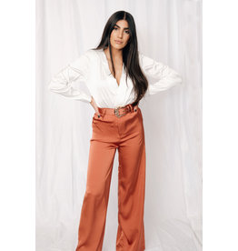 LEXI DREW 932 Belted Satin Pant