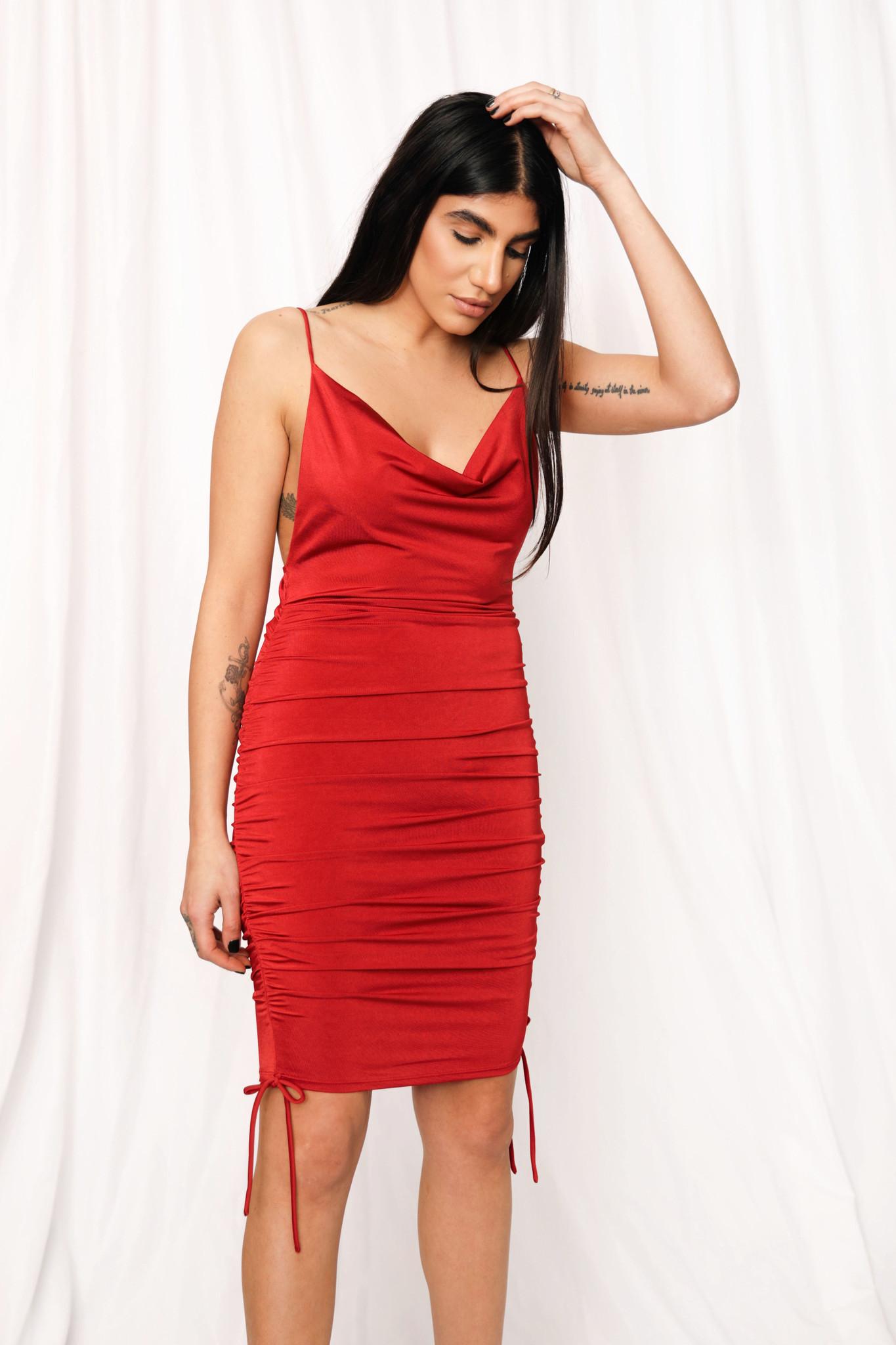 LEXI DREW 0864 Ruched Dress