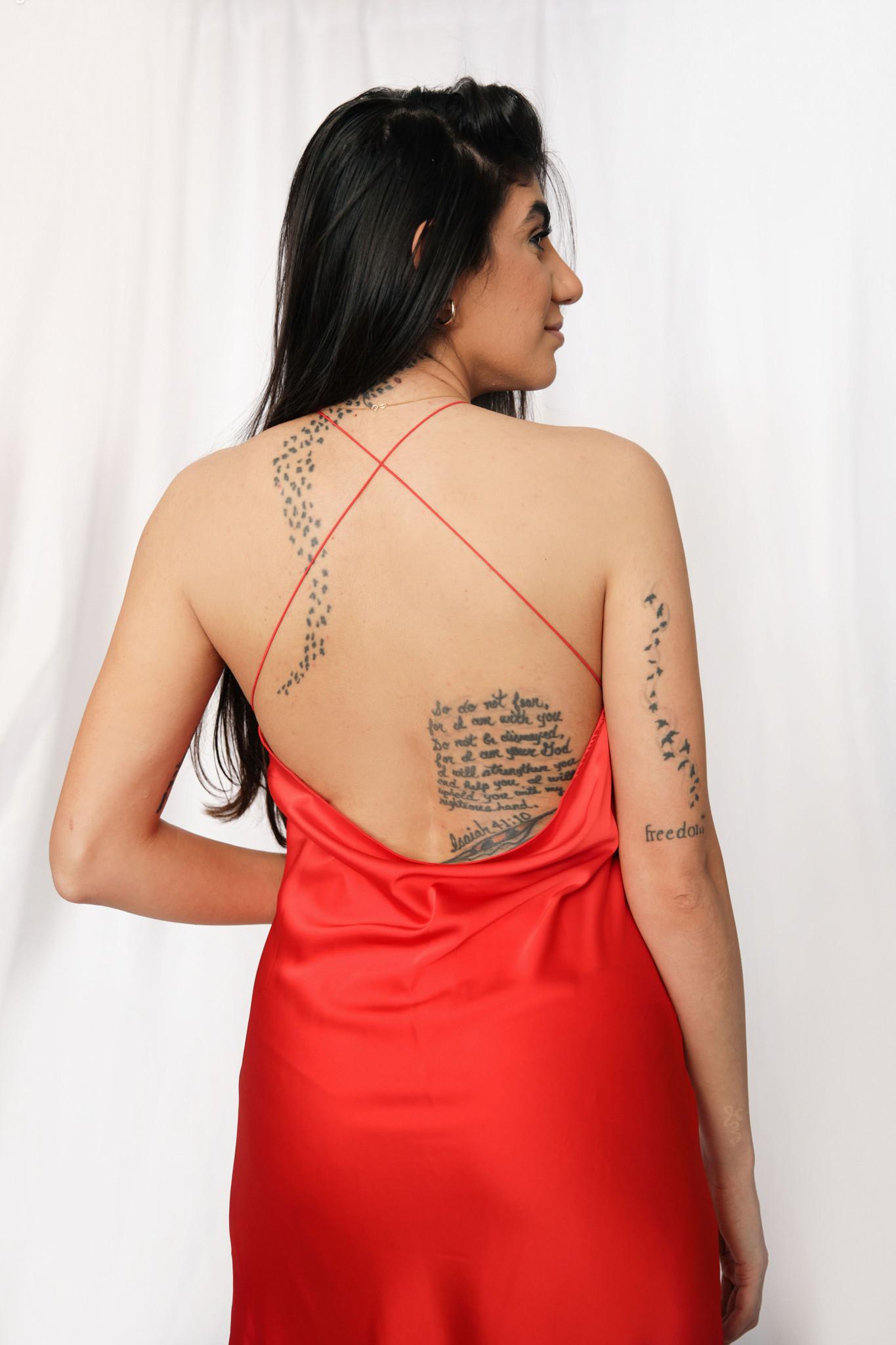 LEXI DREW 2882 Red Long Dress