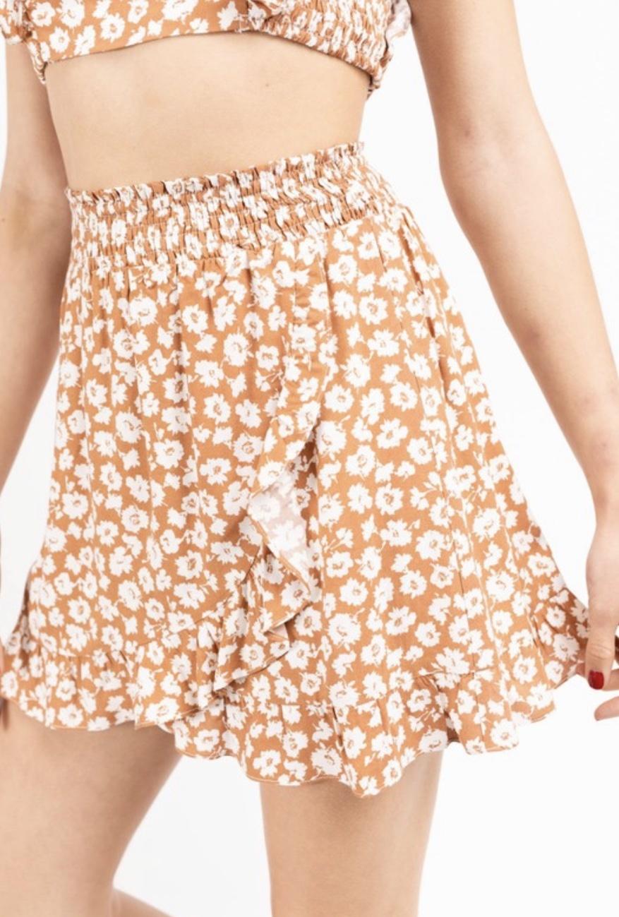 LEXI DREW 5166 Floral Skirt