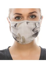 LEXI DREW 1006 Camo Ribbed Face Mask