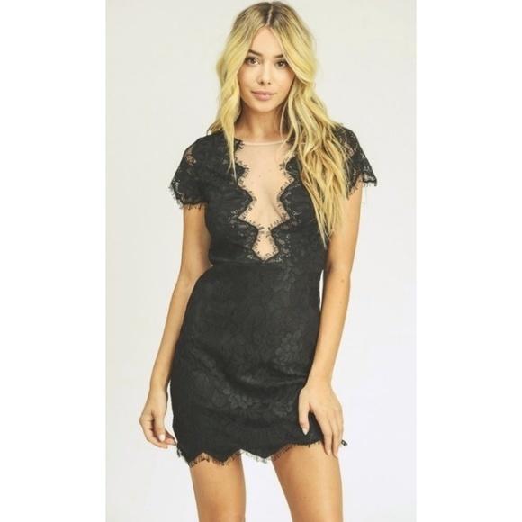 LEXI DREW 1438 Lace Mesh Dress