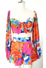 LEXI DREW 5891 Bright Floral Top
