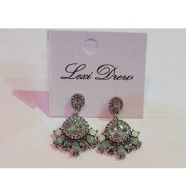 LEXI DREW Silver Opal Earring