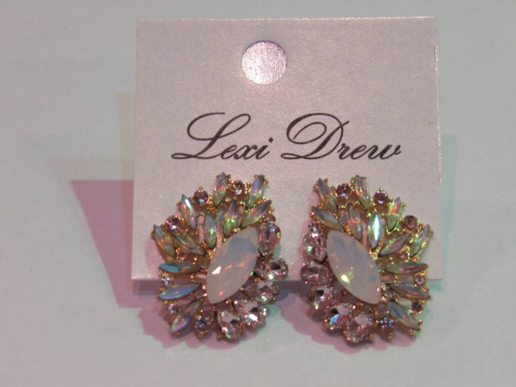 LEXI DREW Pink Crystal Earring